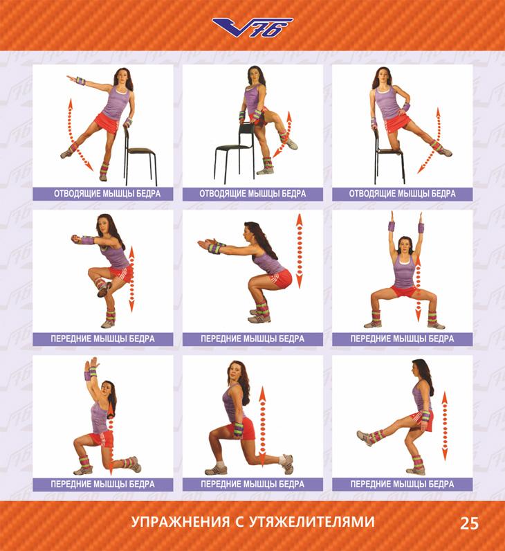 Упражнения на бедра в домашних условиях